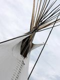 Tapa de la tienda de los indios norteamericanos Imagen de archivo libre de regalías
