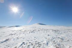 Tapa de las montañas Fotografía de archivo libre de regalías