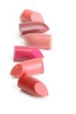 Tapa de lápices labiales machacados Imagen de archivo libre de regalías