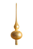 Tapa del árbol de navidad del oro Imágenes de archivo libres de regalías