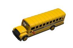 Tapa del autobús escolar del juguete fotos de archivo