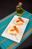 Tapa del membrillo y del queso imagenes de archivo
