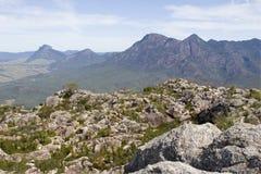 Tapa del paisaje marrón del Mt Foto de archivo