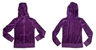 Tapa encapuchada del terciopelo púrpura Imagen de archivo libre de regalías