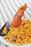 Tapa espagnol de Paella Images stock
