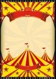Tapa grande del cartel del circo Fotos de archivo libres de regalías