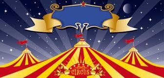Tapa grande del circo en la noche Imagen de archivo libre de regalías