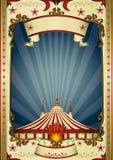 Tapa grande del circo retro de la noche Foto de archivo libre de regalías