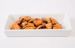 Tapa of marinated mussels Stock Image