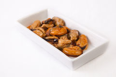 Tapa of marinated mussels Royalty Free Stock Photo