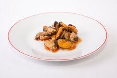 Tapa of marinated mussels Stock Photo