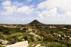 Tapa nublada de la colina Imagen de archivo