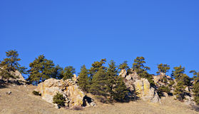 Tapa rocosa de una montaña Ridge imagenes de archivo