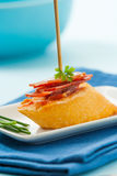 Tapa with serrano ham Stock Images