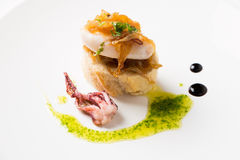 Tapa of squid with caramelized onion Royalty Free Stock Image