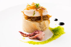 Tapa of squid with caramelized onion Royalty Free Stock Photo