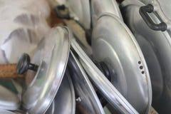 Tapa sucia del pote Fotos de archivo