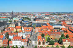 Tapa-vista de Copenhague imagenes de archivo