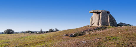 Tapadao dolmen in Crato, the second biggest in Portugal Royalty Free Stock Photos
