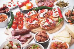 Tapas or antipasto food Stock Photos