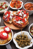 Tapas or antipasto food Stock Images