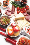 Tapas or antipasto food Stock Image