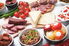 Tapas or antipasto food Royalty Free Stock Photography