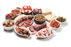Tapas or antipasto meal Stock Images