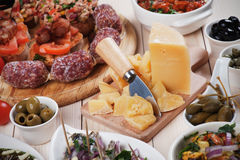 Tapas, antipasto, meze Stock Images