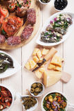 Tapas, antipasto, mezze Stock Images