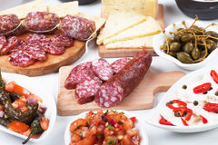 Tapas, antipasto, mezze Stock Photo
