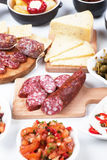 Tapas, antipasto, mezze Royalty Free Stock Photo