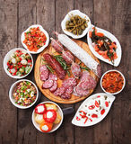 Tapas, antipasto, mezze Royalty Free Stock Photos