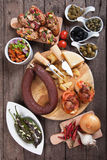 Tapas, antipasto, mezze Royalty Free Stock Images