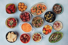 Tapas, antipasto or mezze Stock Photography
