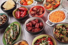 Tapas, antipasto or mezze Royalty Free Stock Photos