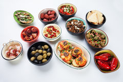 Tapas, antipasto or mezze Stock Image