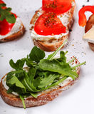 Tapas appetizers Stock Images