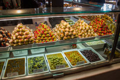 Tapas. An array of tapas in a Spanish market Royalty Free Stock Images
