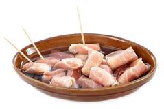 Tapas bacon and cheese Royalty Free Stock Photos