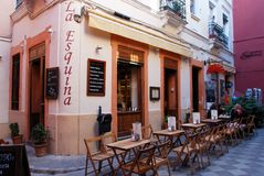 Tapas bar, Seville, Spain. Stock Photos