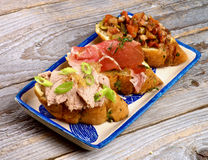 Tapas Bruschetta royalty free stock images
