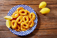 Tapas calamari romana squid rings seafood Spain Stock Photos