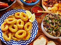 Tapas calamari romana squid rings seafood Spain Royalty Free Stock Photo