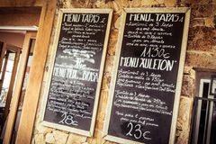 Tapas chalkboard Stock Images