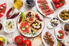 Tapas collection Stock Photos