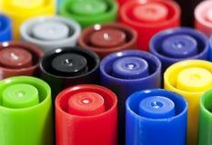 Tapas coloridas de la pluma Fotografía de archivo libre de regalías