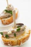 Tapas d'anchois Photographie stock libre de droits