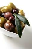 Tapas d'olives photographie stock libre de droits