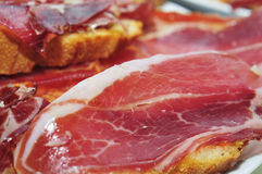 Tapas de jambon de Serrano Photos stock